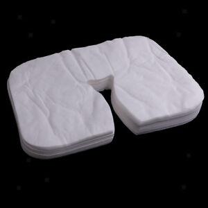200pcs Disposable Salon SPA Massage Bed Pillow Cover Face Mat Pads Sheets