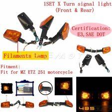 Clignotants support noir MZ ETZ 125 150 250 251 301 telegabel 15 mm