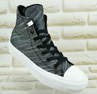 CONVERSE CTAS II HI BLACK WHITE CHUCK TAYLOR WOMENS SHOES  Size 4 UK 36.5 EU