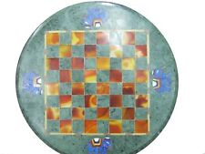 "12"" Marble Chess Game Table Top Pietra Dura Inlay Handmade Art Work"