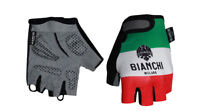 Bianchi Milano TER Summer Padded Cycling Bicycling Gloves ITALIA TRICOLORE