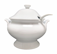 Target Home White Cover Soup Tureen w/ Ladle