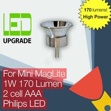 Mini MagLite LED Conversion/upgrade bulb 170LM High Power Torch/flashlight 2AAA