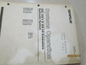CATERPILLAR PARTS MANUAL FOR 325 AND 325L
