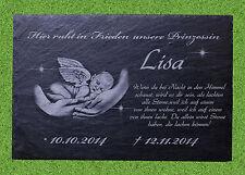 Grabstein Grabplatte Gedenktafel Gravur ca.20x30 Schiefer Sternenkind