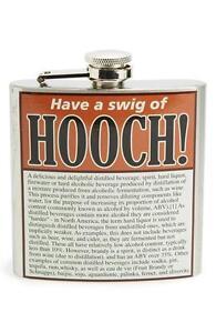 New in Box 'Swig of Hooch' Stainless Steel Hip Flask Too Cool!   LAST ONES!