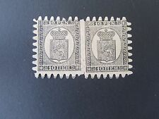Finland #8 Mint H/R w/all teeth, hinge remnant down middle, sold as 2 individual