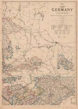 Deutschland Nordosten. Sachsen Weimar Altenburg Anhalt. JW Lowry. Versand 1862 Karte