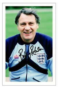 BOBBY ROBSON Signed Autograph PHOTO Signature Gift Print ENGLAND Soccer