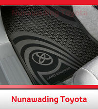 NEW GENUINE TOYOTA LANDCRUISER 200 SERIES FRONT RUBBER FLOOR MATS 1/2012-CURRENT