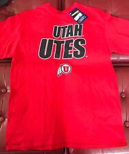 University of Utah T Shirt Large Utah Utes Red Football Basketball New U of U