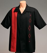 Mens Bowling Shirt XLT Charlie Sheen Retro 50's Rockabilly Size XLarge (R)