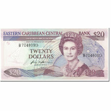 [#605476] Banknote, East Caribbean States, 20 Dollars, 1988-93, Undated