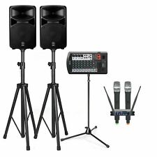 Yamaha STAGEPAS 600BT 680W Bluetooth PA System with Stands & Vocopro UHF-28 Dual