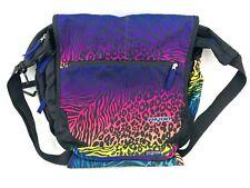 Jansport Messenger Bag Backpack Multicolor Leopard XL LARGE Pink Purple Book Bag