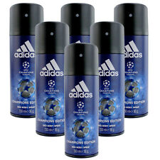 6 x 150ml Adidas Champions League Deo Deospray Deodorant Parfüm Bodyspray