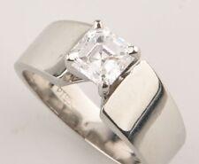 Egl-Certified Platinum 1.00ct Solitaire Diamond Engagement Ring Size 5.5