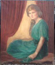 ::WILLI GREINER *1898 WÜRZBURG PORTRAIT DAMENBILDNIS 1922 ART DECO SALON KLEID