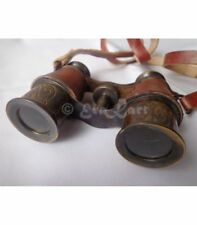 handmade brass leather binocular telescope vintage style gift