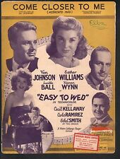 Come Closer To Me Esther Williams Easy To Wed Sheet Music