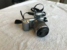 Sony Alpha NEX-5N 16.1MP silver camera with 3 lens and Sony carry bag
