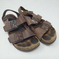 BIRKENSTOCK Arizona Brown Suede Soft Footbed Women's Sandals Size 6 37