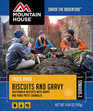 Mountain House Biscuits & Gravy 2-Serving Breakfast Freeze Dried Camping Food