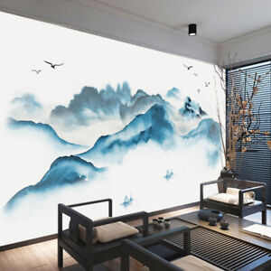 Wall Stickers Chinese Style Painting Landscape Art Decal Home Decor Living Room