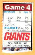 10/20/85 GIANTS/REDSKINS FOOTBALL TICKET STUB