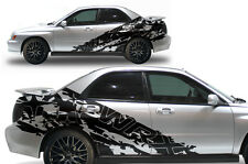 Vinyl Decal WRX SPLASH Side Wrap Kit for Subaru Impreza STI WRX 2002-2007 Black