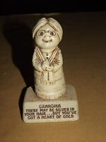 "VINTAGE GIFT  PAULA 1974 GRANDMA HEART OF GOLD  4 1/2"" HIGH STATUE"