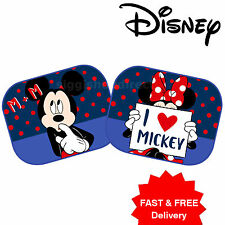 2 x DISNEY Minnie Mickey M+M Car Window Sun shades UV Blinds Children Kids Baby