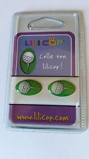 2 STICKERS ADHESIF RELIEF 3D GOLF AUTOCOLLANT LOGO LILI'COP
