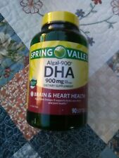 Spring Valley Algal-900 DHA Softgels, 900mg per serving, 90 Count