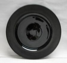 "ROSENTHAL China - VARIATIONS Pattern by Tapio Wirkkala - 11"" BLACK DINNER PLATE"