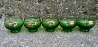 MCM Vintage green shot glasses sake glasses sipping 70s made in Italy