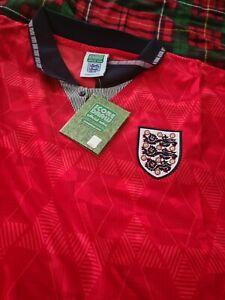 ENGLAND 1990 AWAY FOOTBALL SHIRT UNWORN WITH TAGS XXXL