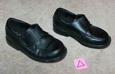 Smartfit Boys' 10 Wide Dress Shoes (black slip-on; skid resistant) near perfect