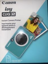 Canon - Ivy Cliq 2 Instant Film Camera - Turquoise - NEW
