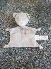 Tiny Tatty Teddy Grey Baby Comforter Blankie Soother Doudou