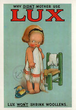 Vintage POSTER Old LUX Soap Advert Laundry Room Advertising Wall ART Print A4