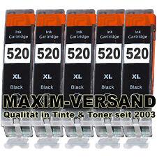5x Druckerpatrone für Canon PGI-520 BLACK MP560 MP 560