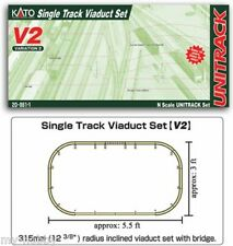 N Scale Unitrack V2 Single Track Viaduct Set - Kato #20-861-1
