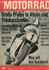 M6815 + Test HONDA CB 250 Supersport + OSSA 230er + Das MOTORRAD 15/1968