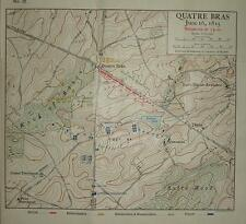 MAP/BATTLE PLAN ~ QUATRE BRAS JUNE 16th 1815 SITUATION AT 3pm ~ TROOP POSITIONS