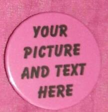 personalised 25 x button badges 58mm with your own design on