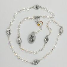 Seven Sorrows Chaplet Rosary  Crystal Beads  Sorrows Medals  See Note