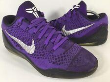 0b3c74ef2824 Nike Zoom Kobe 9 Elite Low Moonwalker Purple Black Silver Mens Size 8.5 Rare