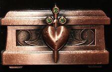 Disney Snow White 7 Dwarfs Evil Queen Heart Box Jewels Pin New On Original Card