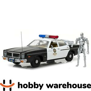 The Terminator 1:18 1977 Dodge Monaco Police Car T-800 with Endoskeleton Fig